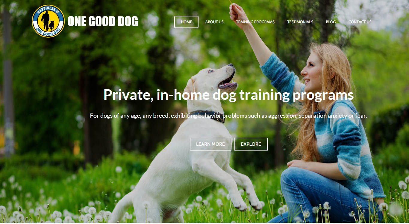 one-good-dog-website-design
